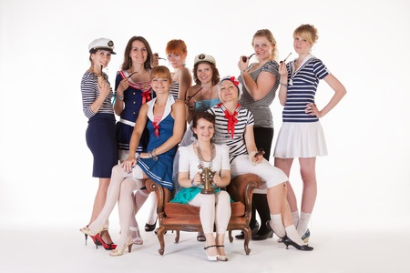 Ideas for hen party: bride and her maids are mariners photo