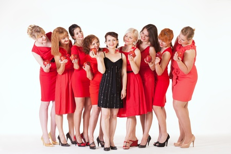 Ideas for hen party  let it be red Stock Photo - 14722000