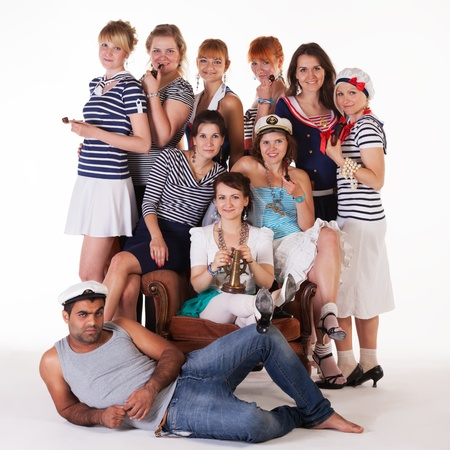 Ideas for hen party: sailors photo