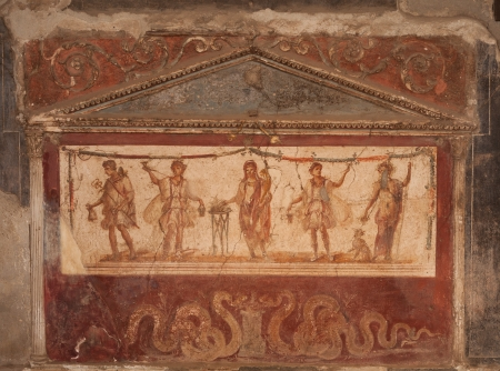 Ancient fresco found in Pompeii city
