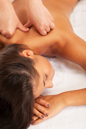 Relaxed girl on spa procedure Stock Photo