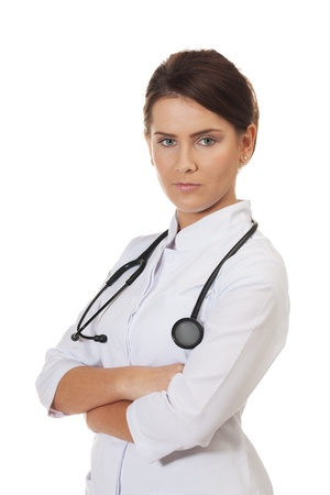 Healthcare professional on isolated white Stock Photo - 16881726