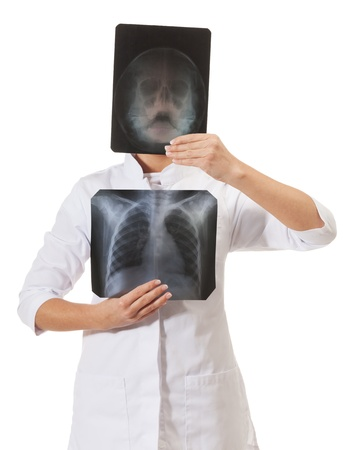X-ray specialist on isolated white Stock Photo - 16881718