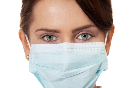 Close up of a doctor in surgical mask Stock Photo - 16890323