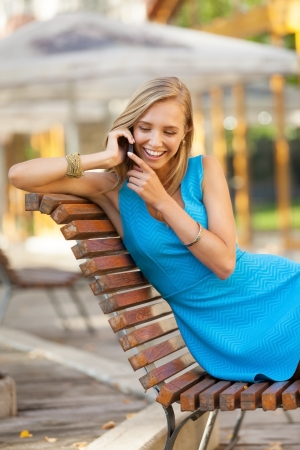 Beautiful girl on the phone