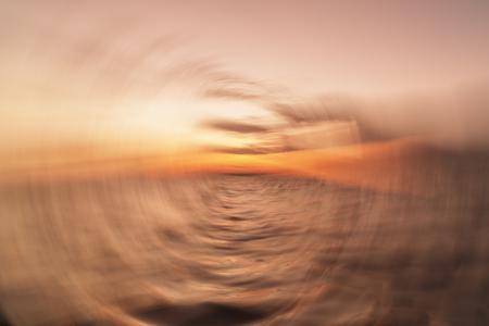 Illustration of a motion sickness: seasick