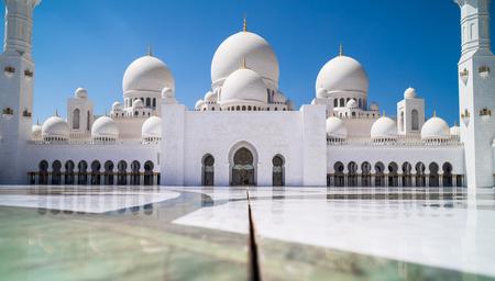 Abu Dhabi Sheikh Zayed mosque (main square)