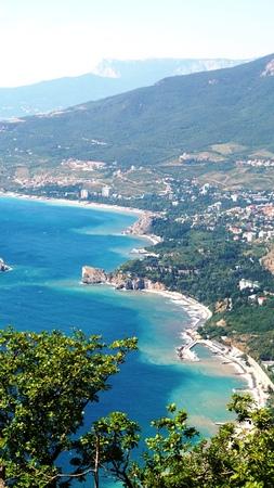 pushkin: Bay of Gurzuf from Ayu-Dag