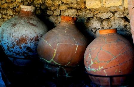 ánforas para almacenar productos thaat están en la antigua Tauris
