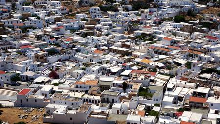 lindos: Greek buildings lindos Stock Photo