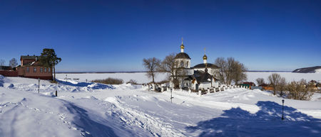 Panorama of the temple-Apostles Czar Constantine and his mother Helena