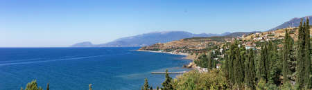 view from the village of Malorechenskaya to the west coast of the great alushta