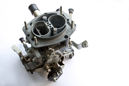 carburettor: carburetor on white background