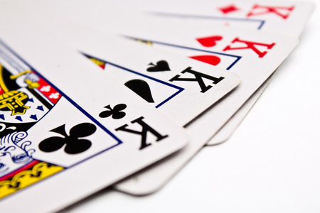 four of a kind: four kings cards Stock Photo