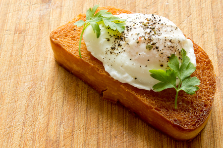 benedict: the poached egg on toast