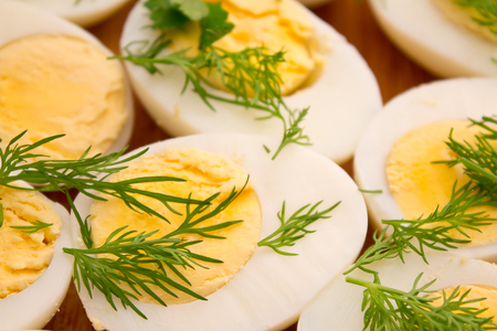 dill: boiled eggs with dill