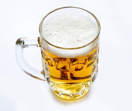 beer mug on white background