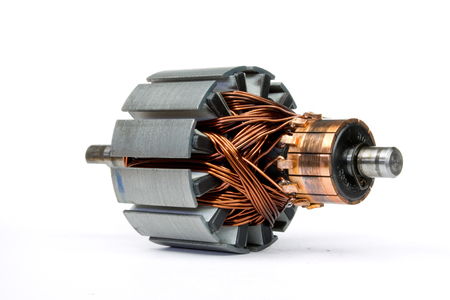electric motor on a white background Stock Photo