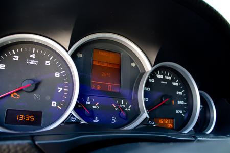 car dashboard closeup Stockfoto