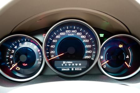 Modern car dashboard closeup
