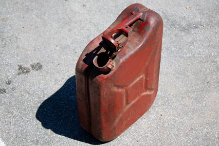 old empty gasoline canister