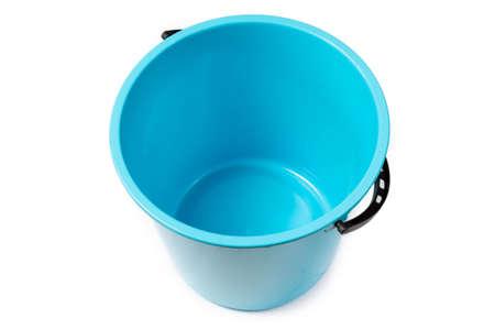 Blue bucket on a white background 版權商用圖片