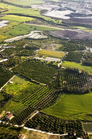 Aerial view at farm fields, Cyprus Stock Photo - 7817994