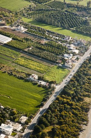 rural area: Aerial photo of rural area, Cyprus Stock Photo