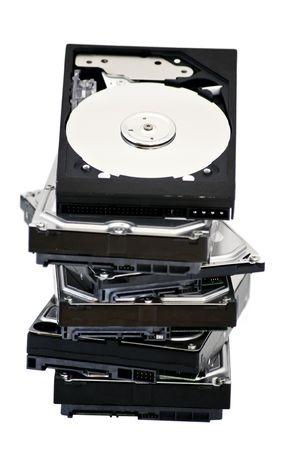 opened hard disk drive  isolated on white background Stock Photo - 7818150