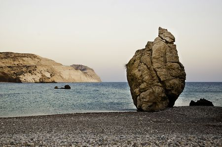 kibris: Rock of Aphrodite or Petra tou Ramiou Stock Photo