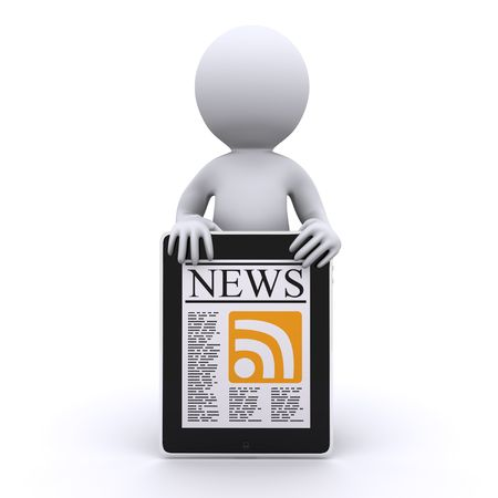newsletters: 3d human read his online news