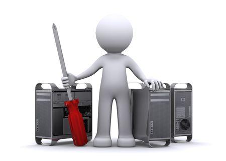 3d Technician repairing PC  photo
