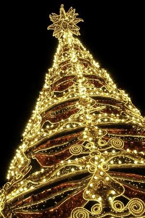 christian candle: Beautiful shining abstract christmas trees Stock Photo