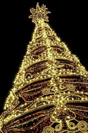 Beautiful shining abstract christmas trees photo