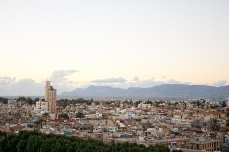 angle view: High angle view at Nicosia city. Cyprus
