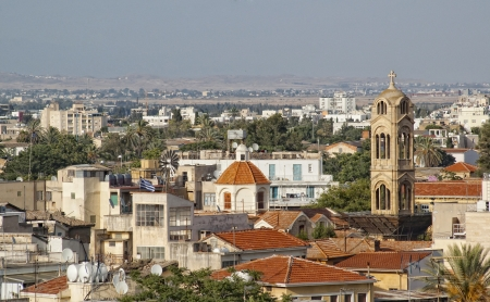 Top view at old part of Nicosia city. Cyprus