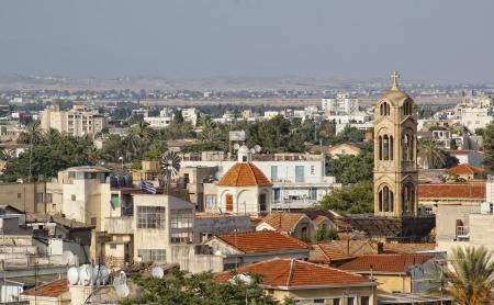 Vista superior en la parte vieja de la ciudad de Nicosia. Chipre Foto de archivo