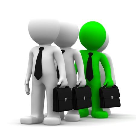 individui: Levandosi in piedi fuori dalla folla. Immagine aziendale concettuale su sfondo bianco