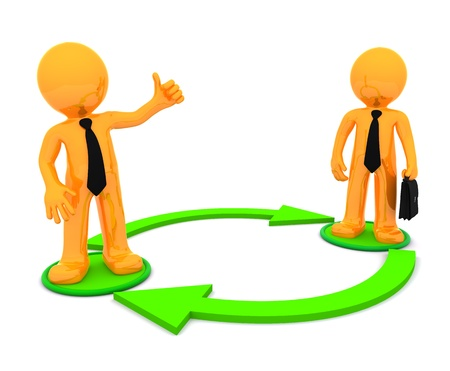 Business communication. Conceptual illustration. Isolated on white background illustration