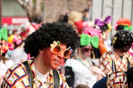 participant: LIMASSOL, CYPRUS - MARCH 6: Portrait of Carnival Parade participant on March 6, 2011 in Limassol, Cyprus.