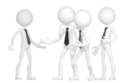 amigas conversando: La gente de negocios discutir. Aislado sobre fondo blanco Foto de archivo