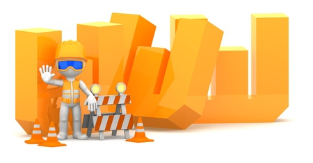 Website under construction concept  Isolted on white Stock Photo - 12801241