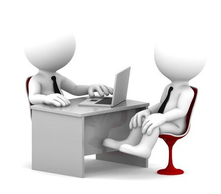 Office overleg Geà ¯ soleerd op witte achtergrond