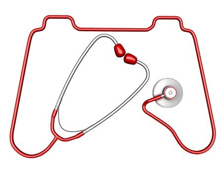 gamepad: Controller -shaped stethoscope Stock Photo