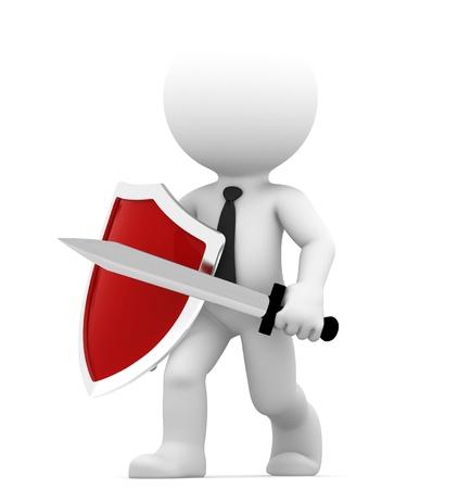 Die Verteidigung Konzeptionelle Business Illustration Isoliert auf weißem Hintergrund Lizenzfreie Bilder
