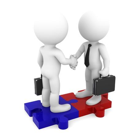 Business Connection Konzeptionelle Business Illustration Isoliert auf weißem Hintergrund