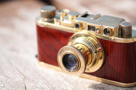 foto: Vintage old film photo camera close up Stock Photo