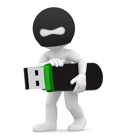 Stealing Informationen Computerkriminalität Konzept isoliert Standard-Bild