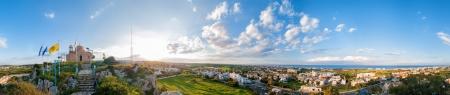Profitis Elias Church and panoramic view of Protaras. Cyprus