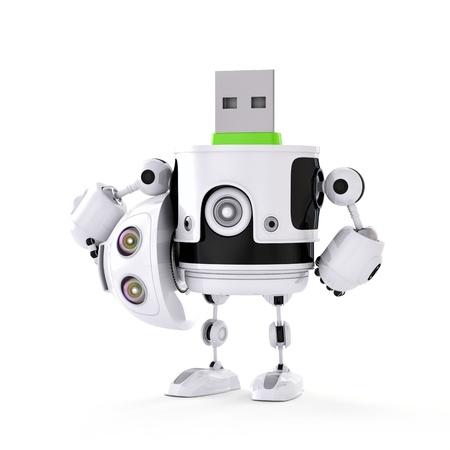 equipos: USB androide. Concepto de almacenamiento digital